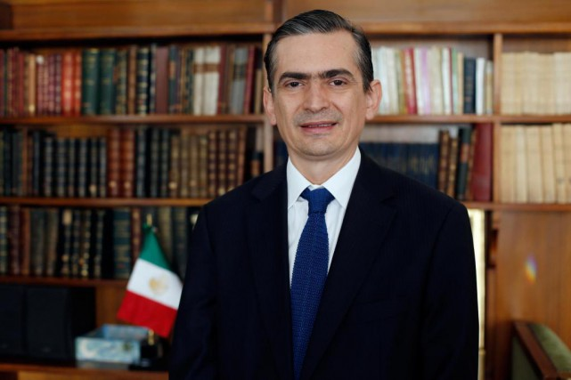 Agustín García-López Loaeza,ambassadeur du Mexique au Canada,invite Ottawa... (PhotoTHOMAS SAMSON, archives Agence France-Presse)