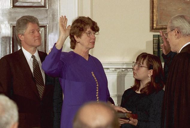 Janet Reno avait été assermentée à titre de... (AP, Barry Thumma)
