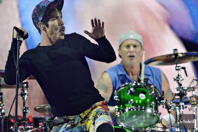 Anthony Kiedis et Chad Smith, de Red Hot... (Photothèque Le Soleil)