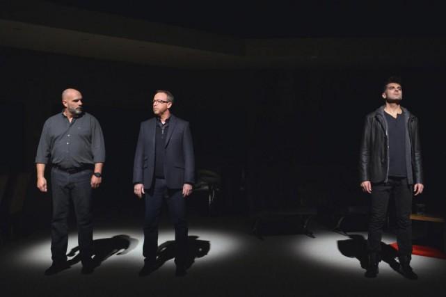 L'amitié de Max (Sylvain Marcel), Paul (Guy Jodoin)et... (photo marlène gélineau payette, fournie par duceppe)