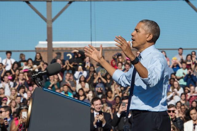 «Vous avez l'occasion d'élire la première femme présidente!»,... (photo NICHOLAS KAMM, AFP)