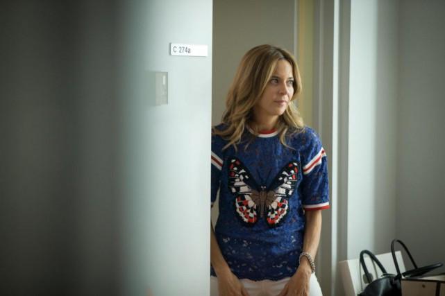 Julie Snyder lors du tournage d'un épisode du... (PHOTO OLIVIER JEAN, archives LA PRESSE)