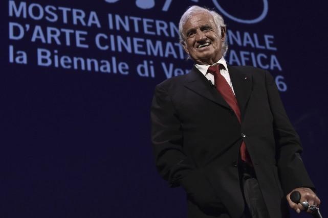 En septembre dernier, l'acteur Jean-Paul Belmondo a reçu... (AFP, Tiziana Fabi)
