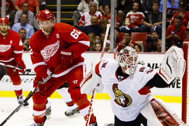 L'ailier Thomas Vanek, des Red Wings de Detroit, sera à l'écart pour une... (PHOTO REUTERS)