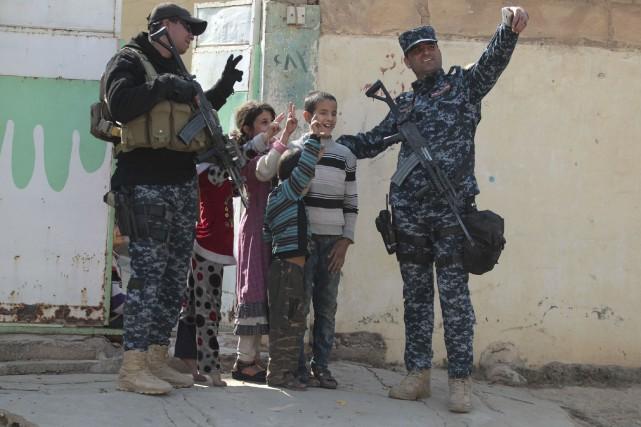 Les troupes irakiennesont conquis la ville de Hamam... (AFP, Ahmad Al-Rubaye)