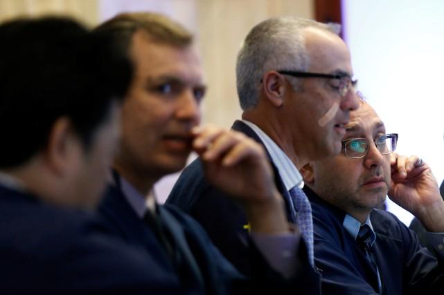 Wall Street a monté mardi à l'issue d'une séance hésitante, les investisseurs... (PHOTO REUTERS)
