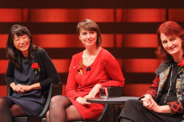 Trois des finalistes du prix Giller, Madeleine Thien,... (Photo fournie par l'organisation du prix Giller)