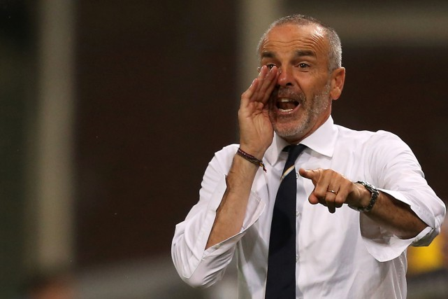 Stefano Pioli... (Photo Marco Bertorello, archives AFP)