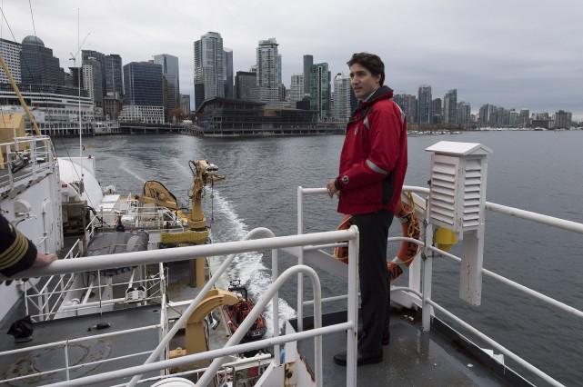 Justin Trudeau a fait une petite croisière à... (La Presse canadienne)