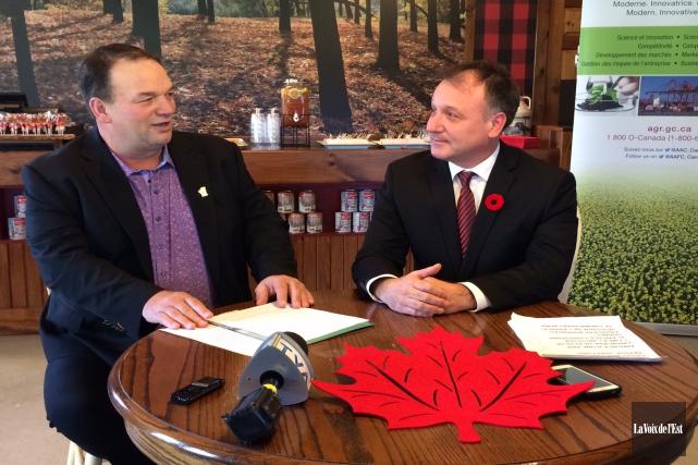 Le ministère de l'Agriculture et de l'Agroalimentaire du Canada a annoncé mardi... (Alain Dion, La Voix de l'Est)