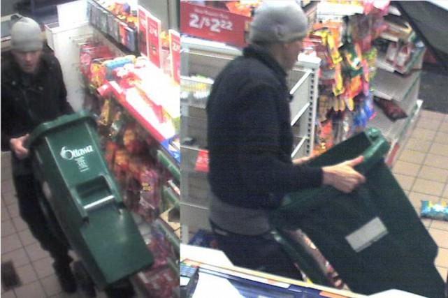 Le suspect recherché par la police transporte sa... (Photo courtoisie)