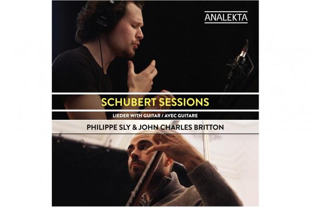 Schubert Sessions-Lieder avec guitare, de Philippe Sly etJohn... (Image fournie par Analekta)