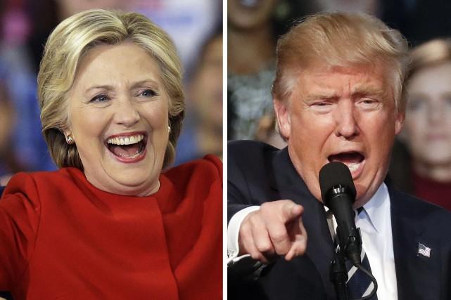 Hillary Clinton et Donald Trump... (Photos AP)