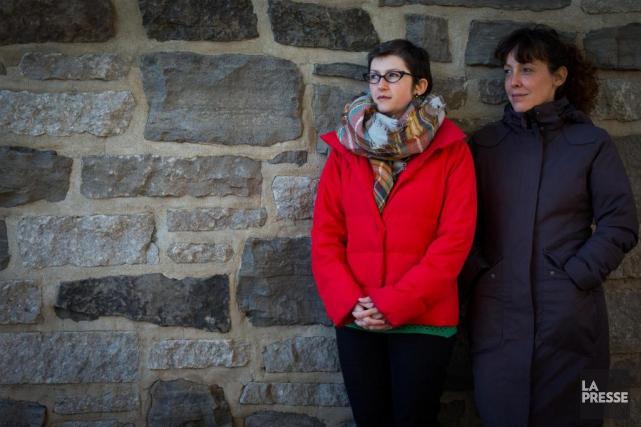 Milena Buziak et Estelle Savasta... (PHOTO OLIVIER JEAN, LA PRESSE)