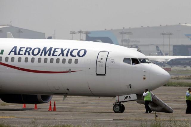 Les passagers de première classe d'un vol Aeromexico... (Archives AP)