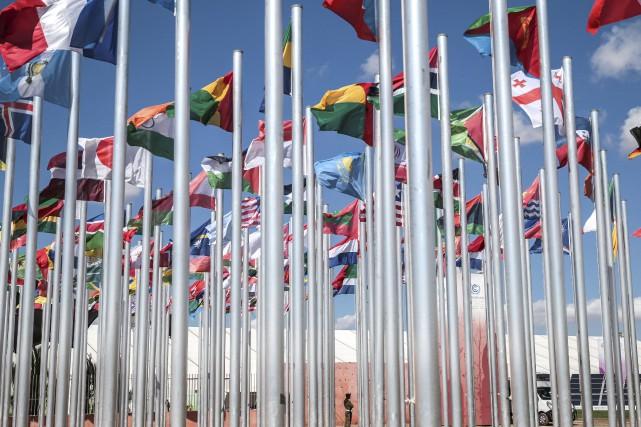 Les pays du monde entier sont réunis depuis... (AP, Mosa'ab Elshamy)