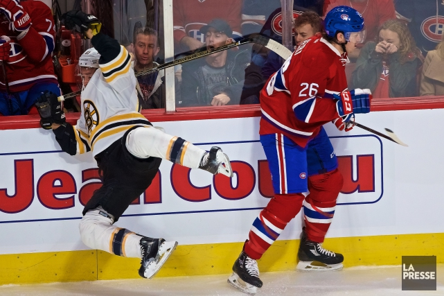 Jeff Petry et Ryan Spooner... (PHOTO ANDRÉ PICHETTE, LA PRESSE)