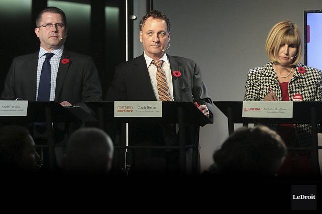 L'élection partielle qui opposera (de gauche à droite)... (Etienne Ranger, Le Droit)