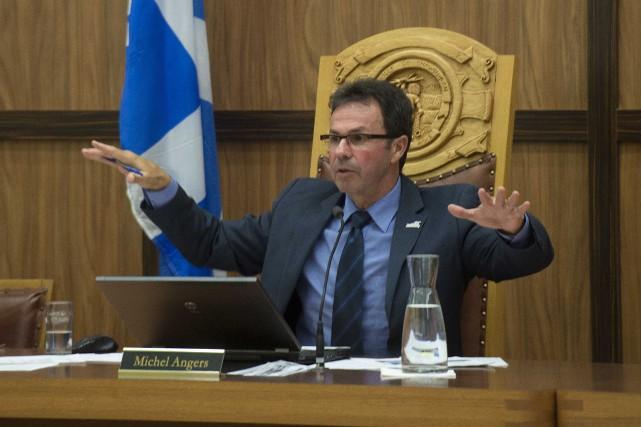 Le maire de Shawinigan Michel Angers a dévoilé... (Sylvain Mayer, Le Nouvelliste)