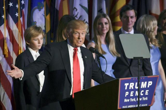 Donald Trump, nouveau président des États-Unis, a prononcé... (PhotoTimothy A. CLARY, Agence France-Presse)