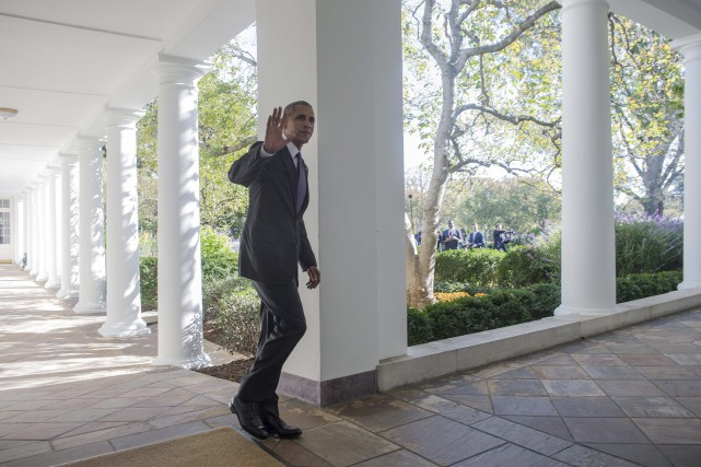 Barack Obama à la Maison-Blanche, le 8 novembre... (AFP, Nicholas Kamm)