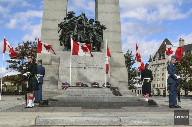 Les cérémonies du 11 novembre auront lieu au Monument commémoratif de guerre,... (Patrick Woodbury, LeDroit)