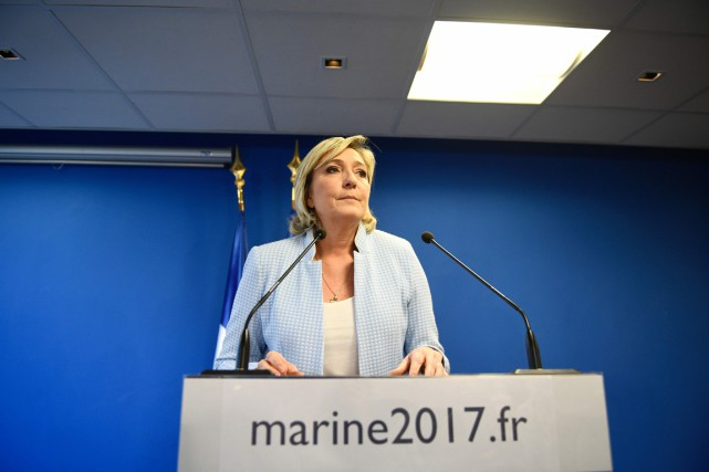 La chef du Front national Marine Le Pen... (photo Martin BUREAU, AFP)