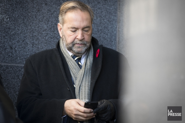 Le chef du NPD, Thomas Mulcair... (PHOTO IVANOH DEMERS, LA PRESSE)