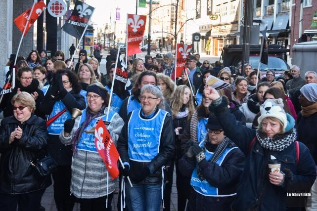 Pourquoi une grève? Parce que le communautaire est... (François Gervais, Le Nouvelliste)