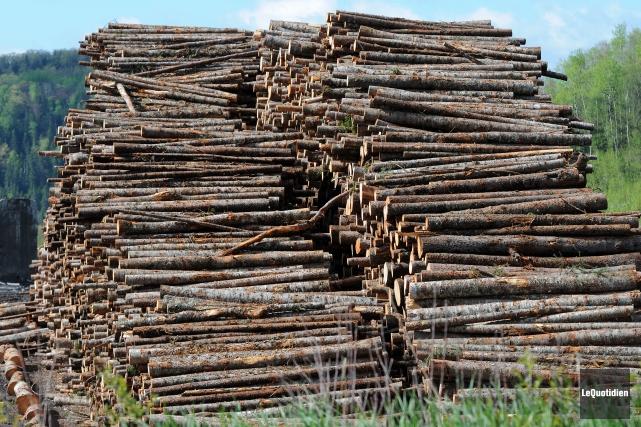 L'industrie du bois d'oeuvre est vitale pour le Pontiac et le Canada. Elle a... (Archives Le Quotidien, Jeannot Lévesque)