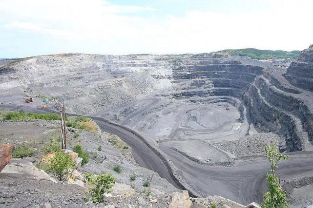 La mine d'ilménite du lac Tio, près de... (fournie par Rio Tinto)