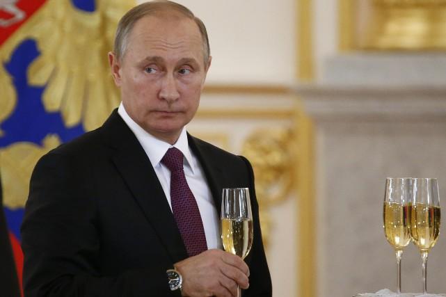Le président russe Vladimir Poutine, qui a félicité... (Photo Sergei Karpukhin, Reuters)