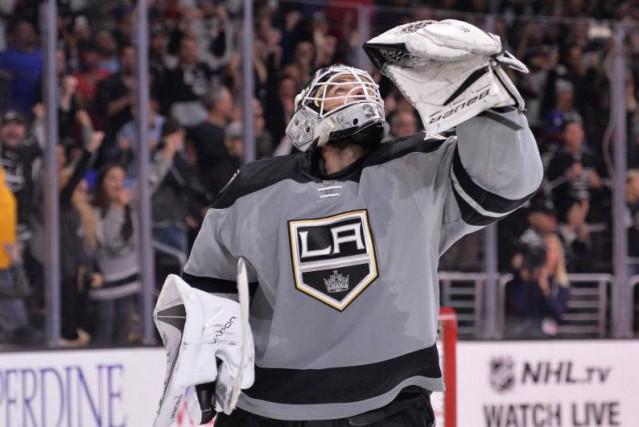 Peter Budaj a disputé 11 matchs avec les... (Photo Jake Roth, USA TODAY Sports)