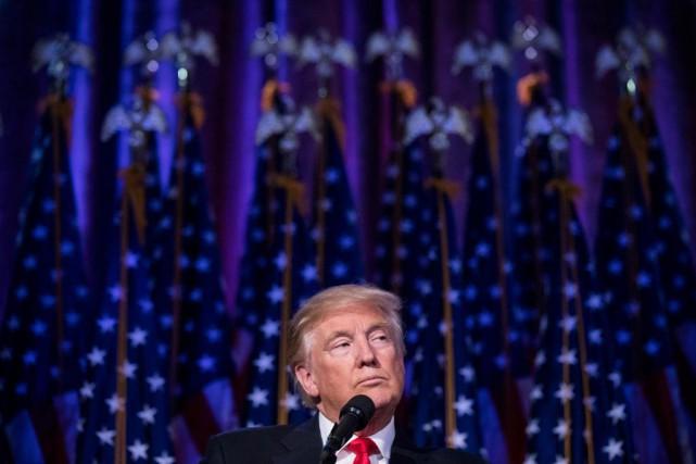 Maintenant qu'il est élu président des États-Unis, Donald... (PhotoDamon Winter, The New York Times)