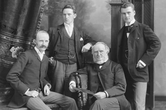 William Notman et ses fils, William McFarlane, George... (PHOTO WM. NOTMAN & SON, FOURNIE PAR LE MUSÉE MCCORD)