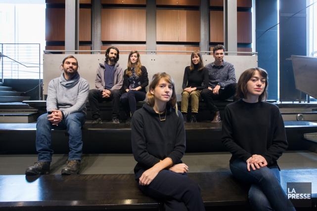 Santiago Bertolino, Maxime Lacoste-Lebuis, Maude Plante-Husaruk, Justine Harbonnier,... (PHOTO OLIVIER PONTBRIAND, LA PRESSE)