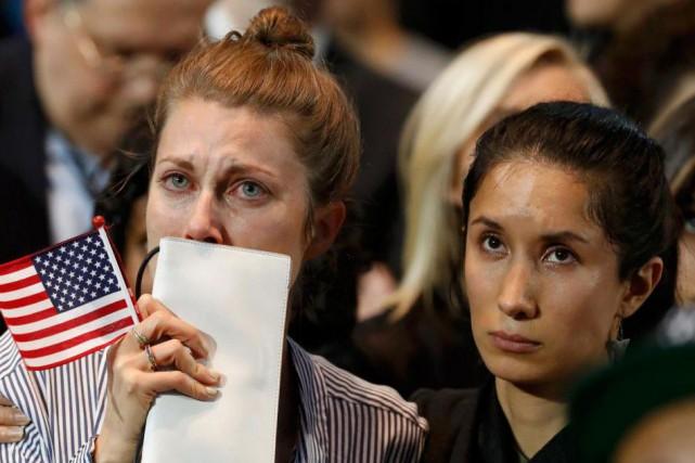 L'échec d'Hillary Clinton, «c'est aussi l'échec d'un pays,... (Photo Lucas Jackson, Reuters)