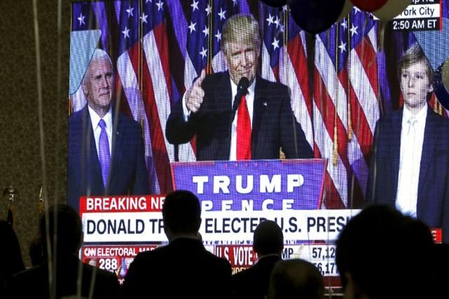 La soirée électorale de CNN a été la... (AP, Boris Grdanoski)