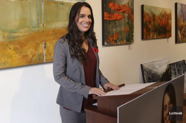 L'avocate Audrey Bureau fera une campagne «d'écoute» en... (Patrick Woodbury, Le Droit)