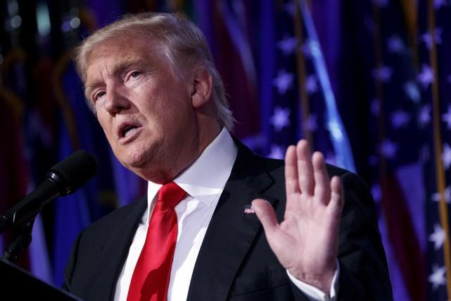 Donald Trump vient de gagner la présidence du... (archives Associated Press)