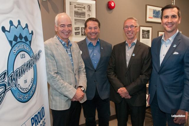 Les quatre gestionnaires des Sags, Richard Létourneau, Jean-François... (Archives Le Quotidien, Michel Tremblay)