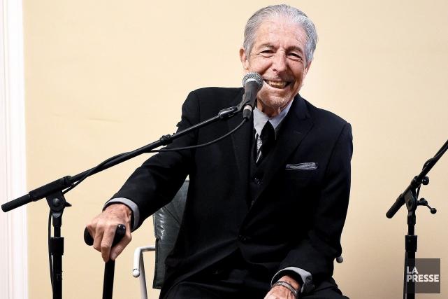 Leonard Cohen lors du lancement de son dernier... (Photo fournie par Sony Music)