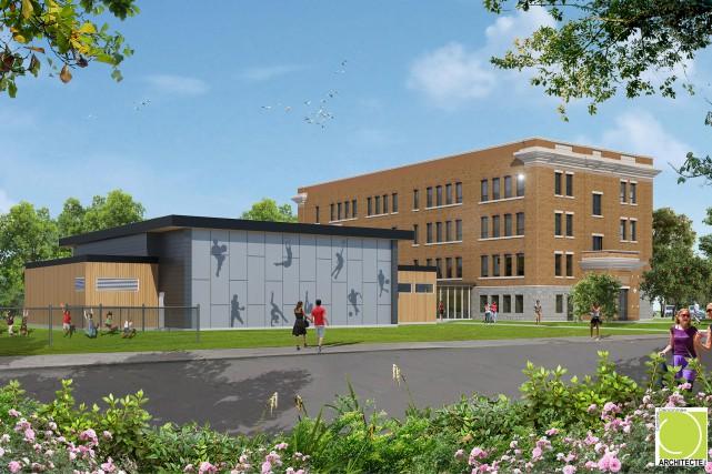 Le gymnase de l'école Saint-Romuald coûtera 2,6 millions... (esquisse fournie par la CSVDC)