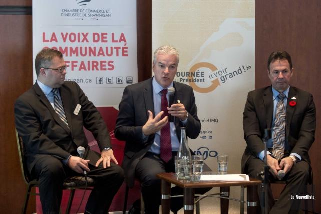 Le président de la CCIS, Mario Lamontagne, le... (Sylvain Mayer, Le Nouvelliste)