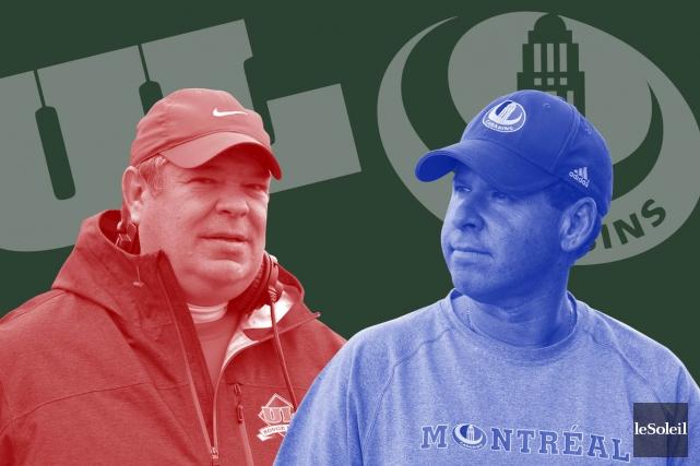 Glen Constantin, l'entraîneur-chef du Rouge et OretDanny Maciocia,... (Infographie le Soleil)