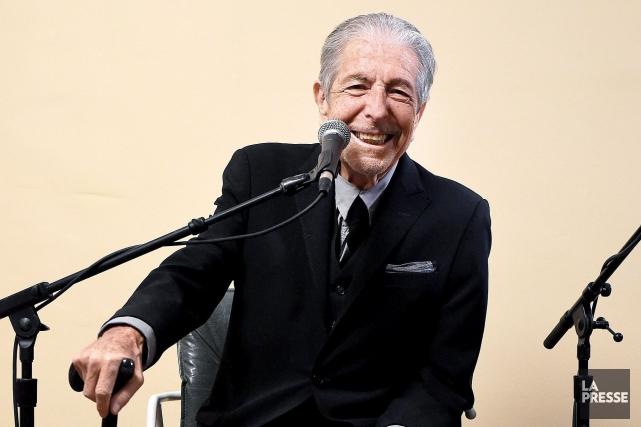 Leonard Cohen lors du lancement de son dernier... (Fournie par Sony Music)