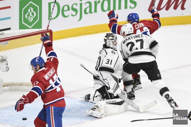 Daniel Carr (à droite) a marqué le deuxième... (Photo Bernard Brault, La Presse)