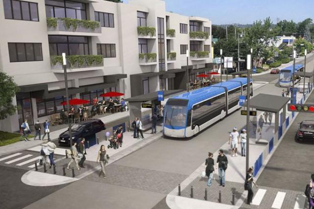 Illustration du Service rapide par bus... (Ville de Québec)