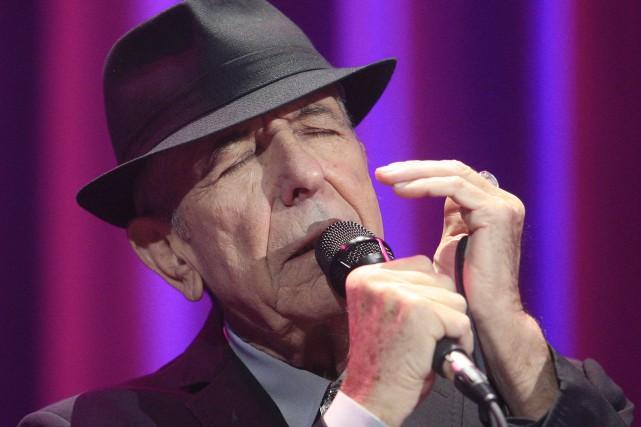 Leonard Cohen en concert au Colisée de Québec... (Photothèque Le Soleil, Pascal Ratthé)