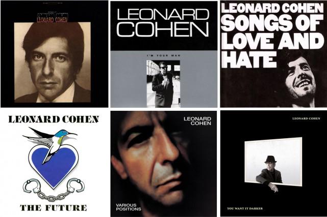 Voici, par ordre chronologique, six albums marquants du regretté Leonard Cohen.